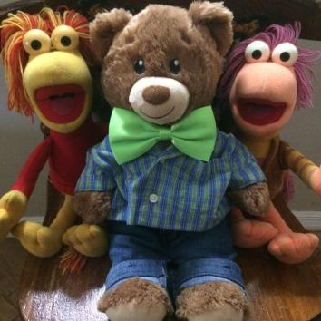 Sammy and his long-time friends from Fraggle Rock.
